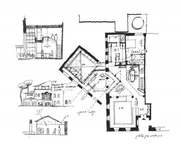 נחום מלצר יצחק אפריל אדריכלים בית גושן גוטשטיין בקעה ירושלים (1)
