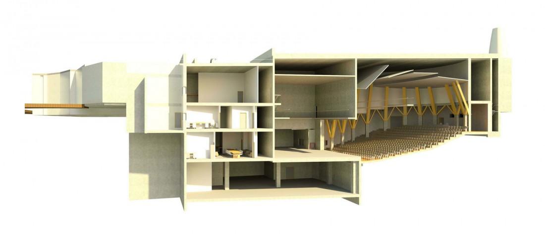 נחום מלצר יצחק אפריל אדריכלים הרחבת תאטרון החאן (2)