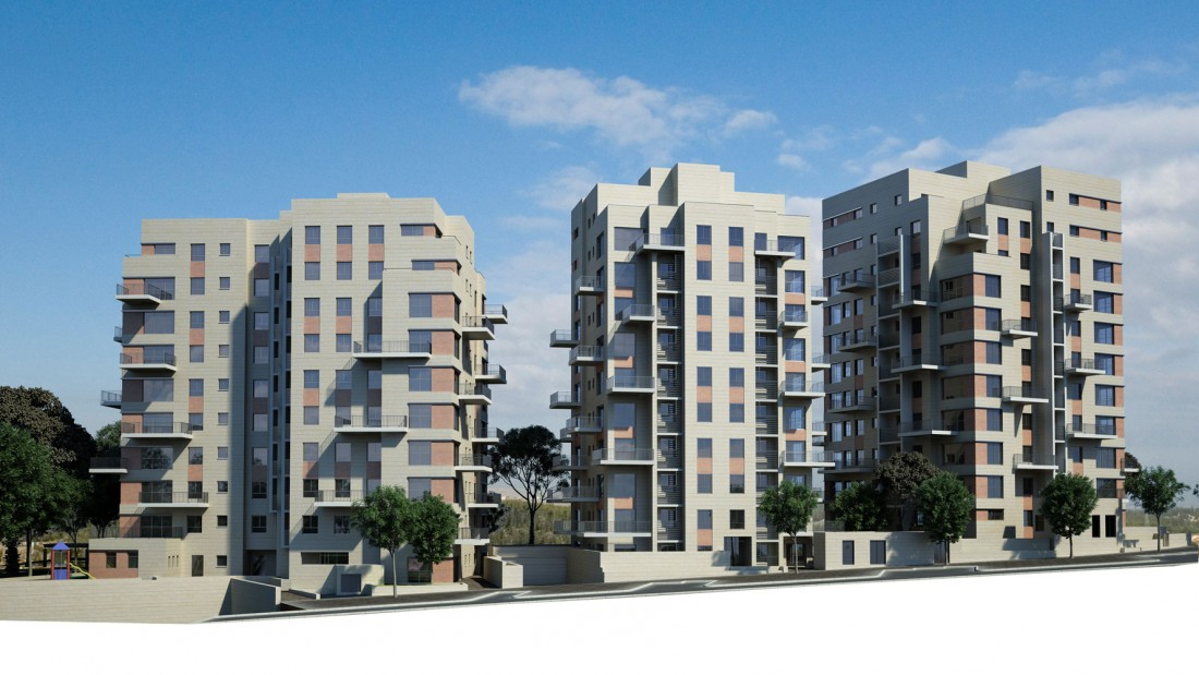 נחום מלצר יצחק אפריל אדריכלים תבע ותכנון בנייני מגורים רחוב תובל (2)