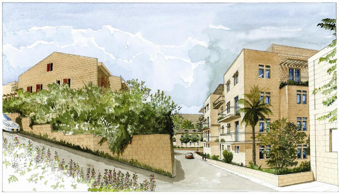 נחום מלצר יצחק אפריל אדריכלים מגורים רוממה ירושלים (2)