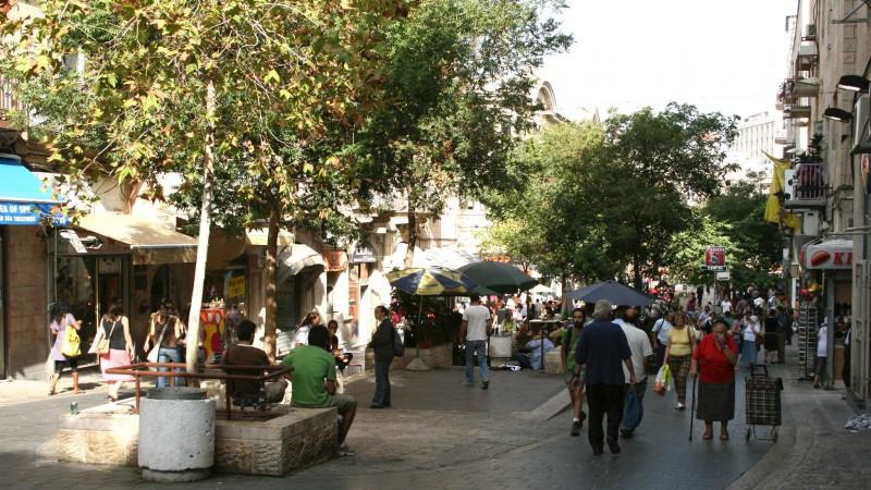 Ben-Yehuda Street and Kikar-Zion Square