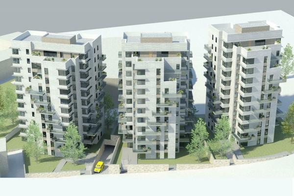 נחום מלצר יצחק אפריל אדריכלים תבע ותכנון בנייני מגורים רחוב תובל (3)