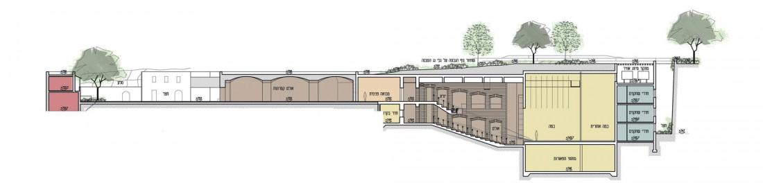 נחום מלצר יצחק אפריל אדריכלים הרחבת תאטרון החאן (4)