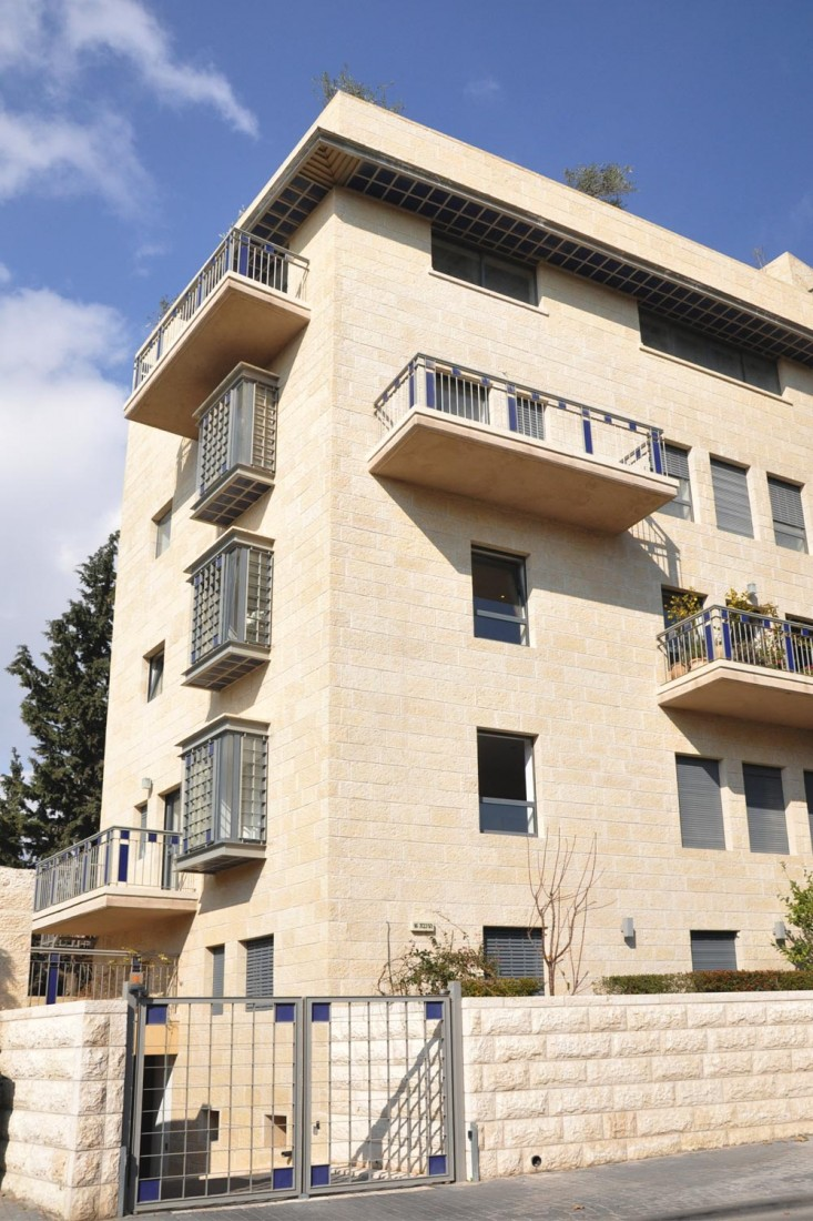 נחום מלצר יצחק אפריל אדריכלים מגורים ברחוב הרכבת ירושלים (5)