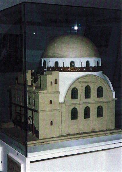 מודל בית הכנסת של האומן מאיר רוזין (1912)