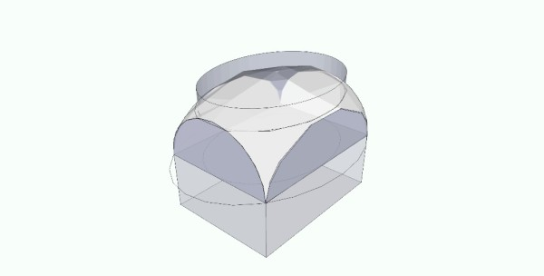 ה. על גבי הגליל האליפטי ניתן לבנות כיפה אליפסואידית. האומנם זה היה מבנה הכיפה?