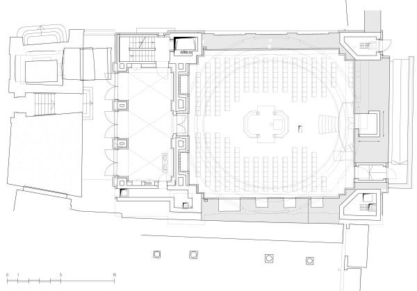 תכנית אולם בית הכנסת והפלוש